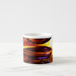 Colliding Forces Abstract Espresso Cup