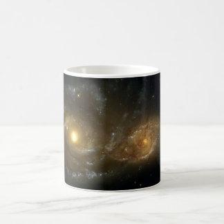 Colliding Galaxies NGC 2207 IC 2163 by the Hubble Coffee Mug