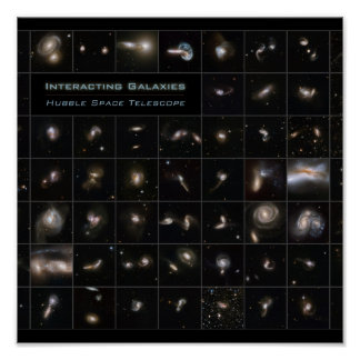 Colliding Galaxies Poster