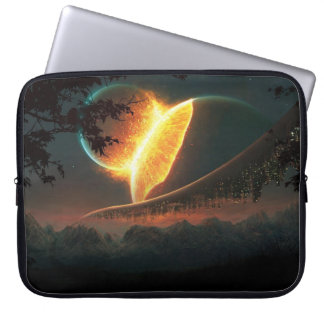Colliding Planets Laptop Sleeve