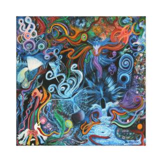 Colliding Worlds - The Silent Scream Canvas Print
