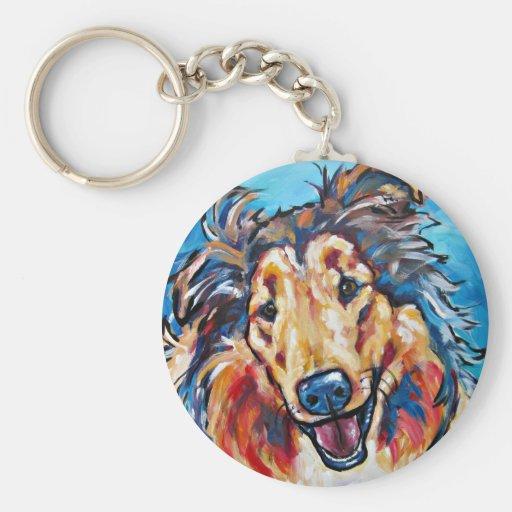 Collie 2 keychain