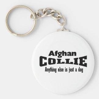 Collie afgano llavero personalizado