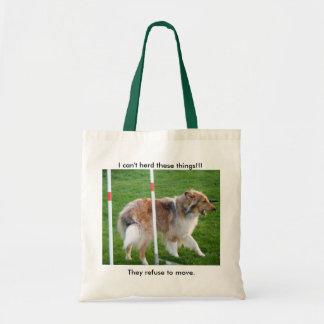 Collie Agility Canvas Bags