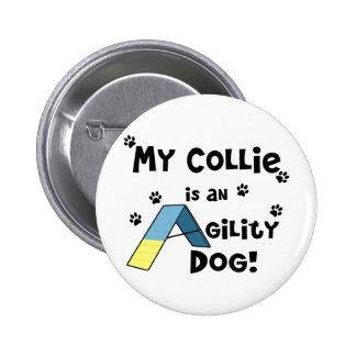 Collie Agility Dog 2 Inch Round Button