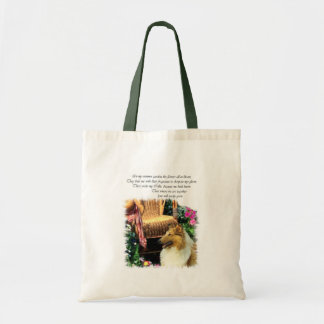 Collie Art Gifts Rough Sable Tote Bag
