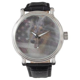 Collie áspero relojes de mano