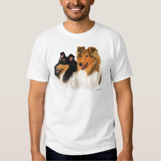 Collie áspero remeras
