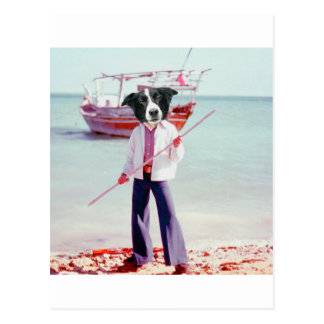 collie boat postcard