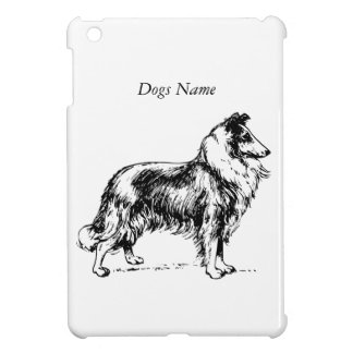 Collie Breed Drawing Custom Dog Name Cover For The iPad Mini