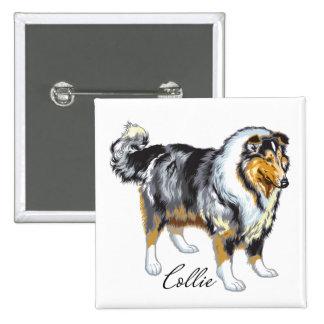 collie 2 inch square button