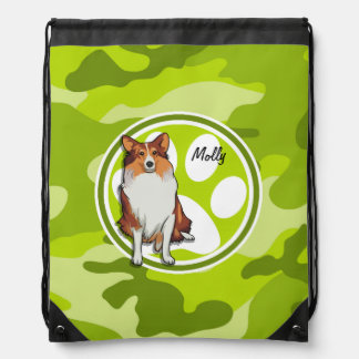 Collie; camo verde claro, camuflaje mochilas