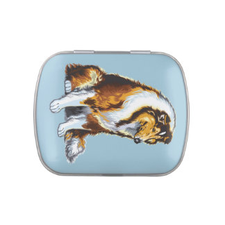 collie candy tins