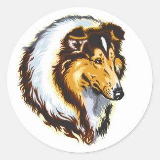 collie classic round sticker