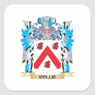 Collie Coat of Arms - Family Crest Stickers