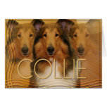 Collie Crescent Moon Greeting Card