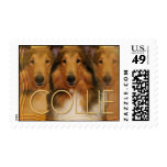 Collie Crescent Moon Stamps