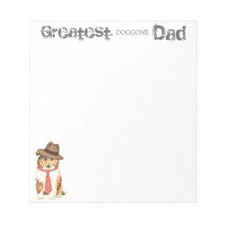 Collie Dad Notepad