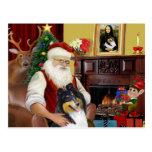 Collie de Santa en casa - (tri) Postal