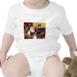 Collie de Santa en casa - (tri) Trajes De Bebé