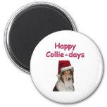 Collie-días felices imán para frigorífico