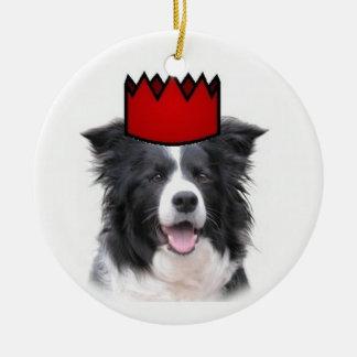 Collie Ditzy de Dogs~Original Ornament~Border Ornato