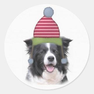 Collie Ditzy de Dogs Original Sticker Border Pegatina