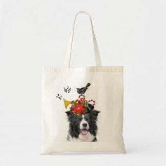 Collie Ditzy de Dogs~Original Tote~Border Bolsa Tela Barata