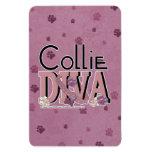Collie DIVA Vinyl Magnet
