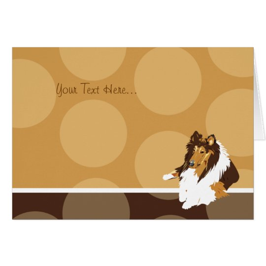 COLLIE Dog Breed Note Card Thank you note