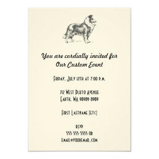 Collie Dog Card
