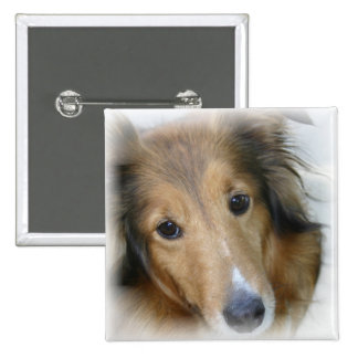 Collie Dog Square Pin