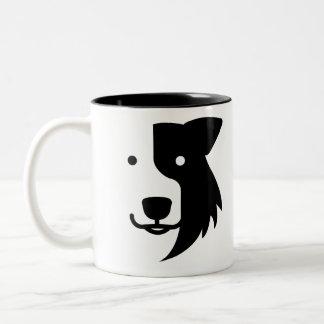 Collie dog Two-Tone coffee mug