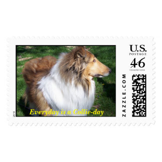 COLLIE, Everyday is a Collie-day Postage Stamps