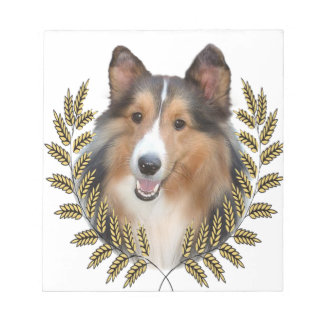 Collie Framed in Wheat Notepad
