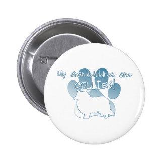 Collie Grandchildren 2 Inch Round Button