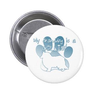 Collie Granddog 2 Inch Round Button