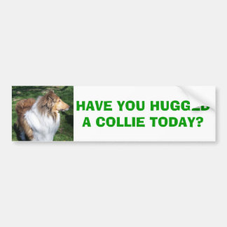 COLLIE, HAVE YOU HUGGED A COLLIE TODAY? CAR BUMPER STICKER