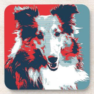 Collie Hope Parody Poster Coaster