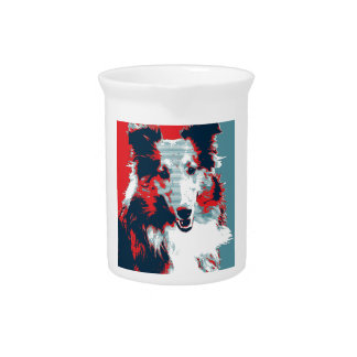 Collie Hope Parody Poster Drink Pitcher