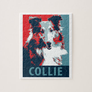 Collie Hope Parody Poster Jigsaw Puzzle
