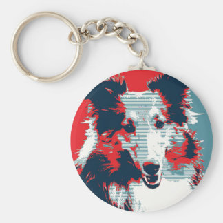 Collie Hope Parody Poster Keychain