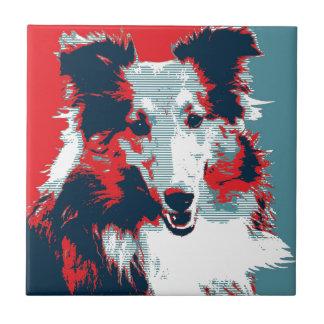 Collie Hope Parody Poster Ceramic Tiles