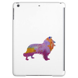 Case Savvy Glossy Finish iPad Air Case with Collie Phone Cases design