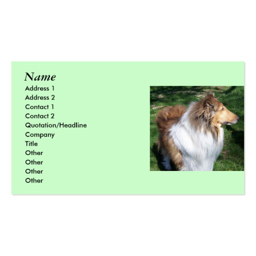 COLLIE Lovers Business cards- *Customize*