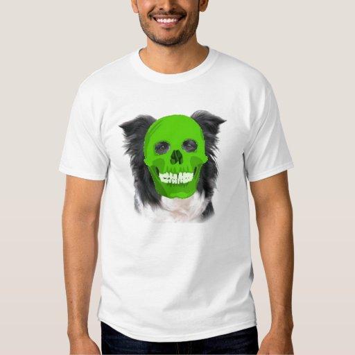 Collie mareado Tee~Halloween de Dogz~Border Playera