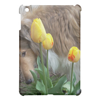 Collie n Tulips Cover For The iPad Mini