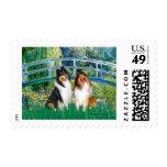 Collie Pair 1 - Bridge Stamp