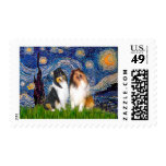 Collie Pair 1 - Starry Night Stamps