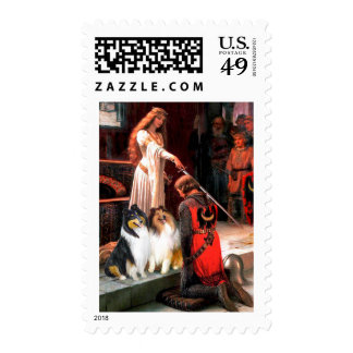 Collie Pair 1 - The Accolade Postage Stamps